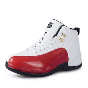 ecf3dba7da9 Men Cool Basketball Shoes Fashion Sports Shoes High Top Leather Lace ...