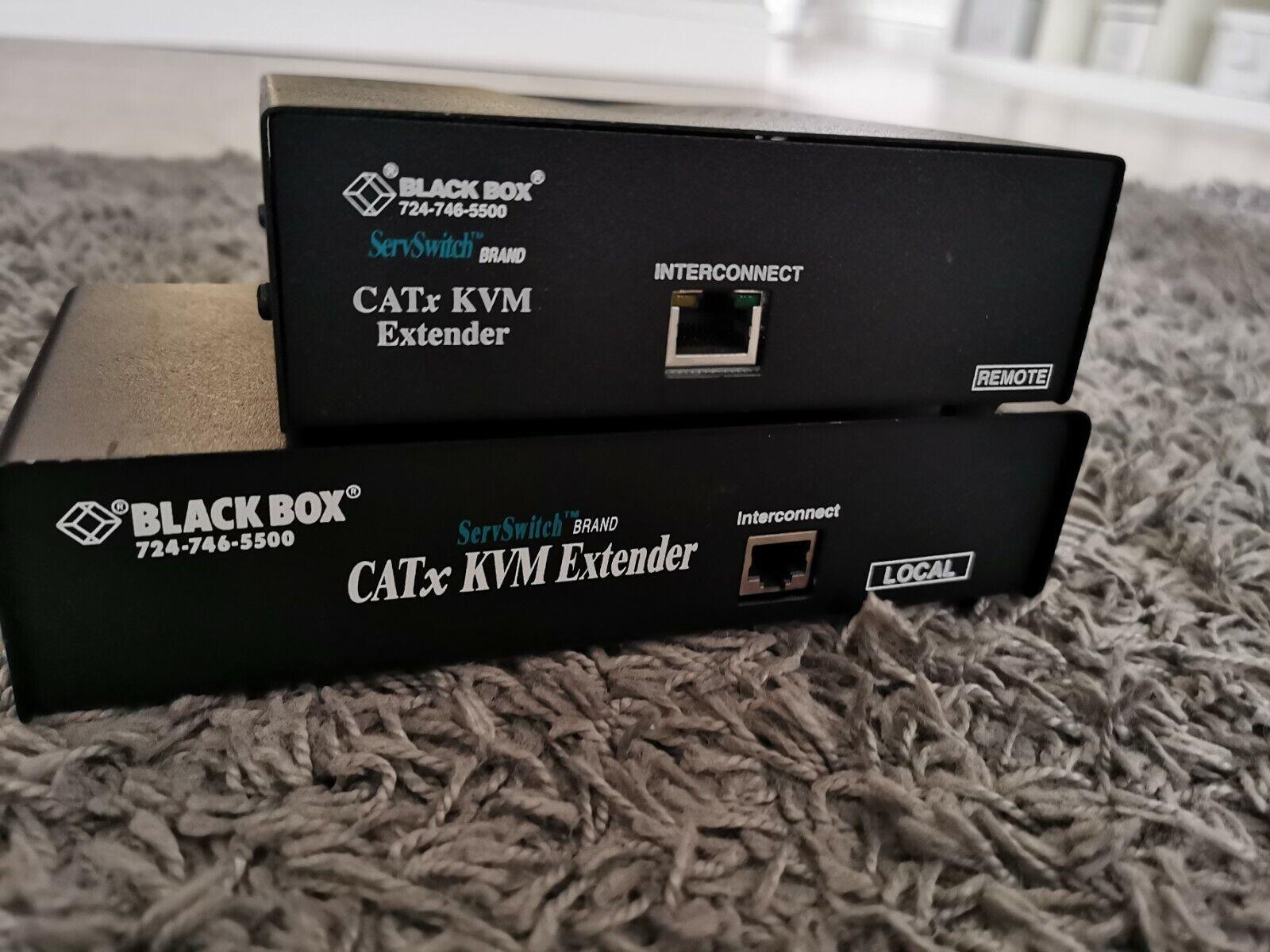 BLACKBOXACU2022A ServSwitch KVM over CATx Single-Access Extender Kit Untested