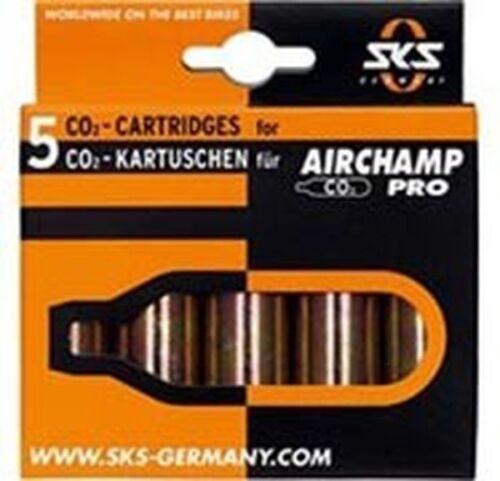 Sks airchamp de rechange Cartouche co2 cartouche 5 pièce sans filetage