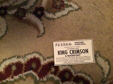 u1-6 ephemera 1971 advert concert watford town hall king crimson supertramp