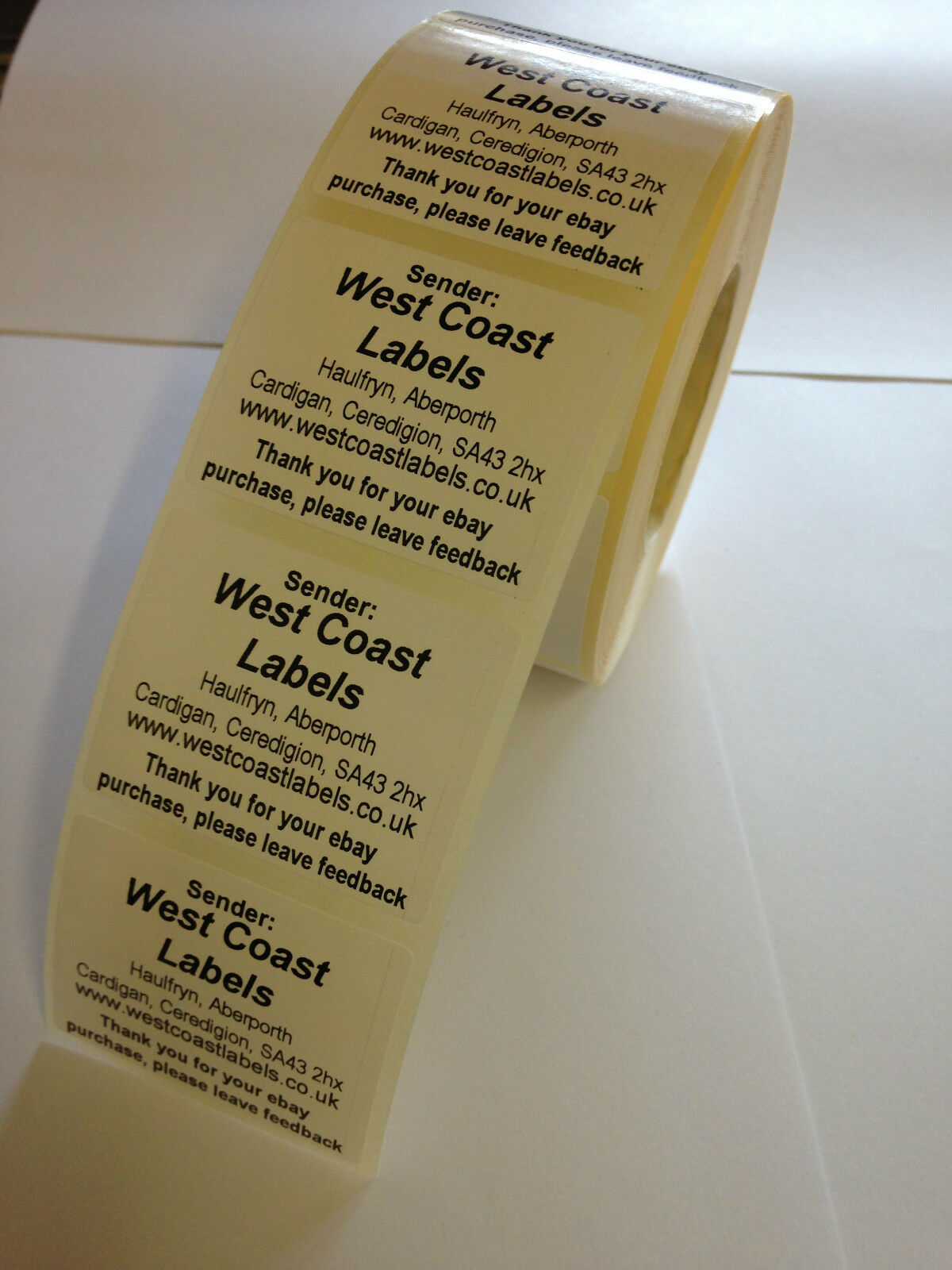 White Return Address Labels On A Roll