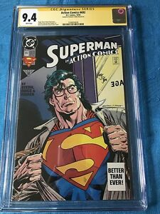 Action-Comics-692-DC-CGC-SS-9-4-NM-Signed-by-Roger-Stern-Superman