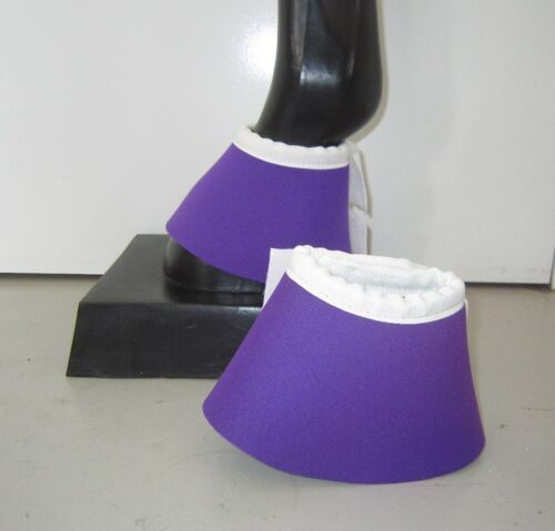 Horse Bell or Overreach Boots Purple /& White AUSTRALIAN MADE Protection