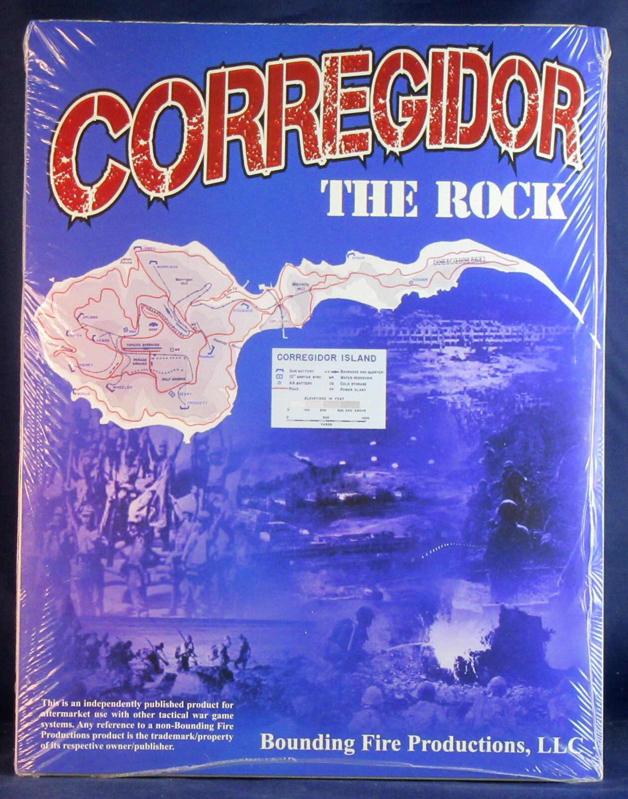 Corregidor  the Rock    ASL   Bounding Fire Productions  shrinkwrapped