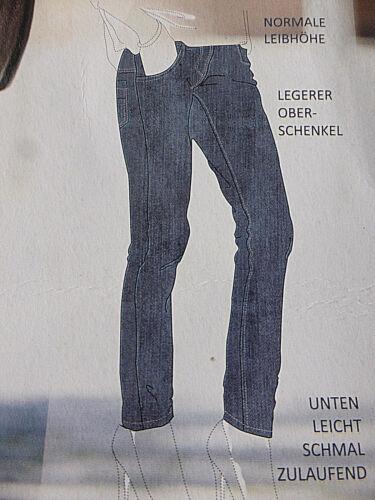 Damen Stretchhose Gr 46-50-52-54 Große Mode Jeans blau Damenmode NEU Öko-TEX