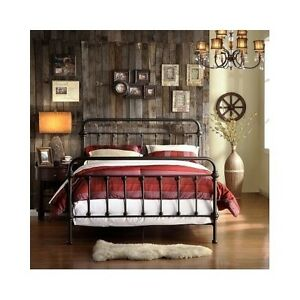 Image Is Loading King Size Bed Antique Vintage Headboard Footboard Frame
