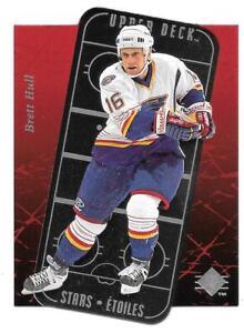 1995-96 Brett Hull Upper Deck SP Stars Etoiles Die Cut - St. Louis Blues