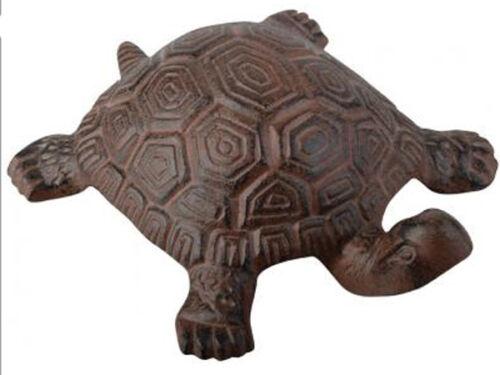 """GHISA Carino Tartaruga Turtle Decorazione Giardino in Metallo 7/"""" 19 CM Marrone Animale Nuovo"""