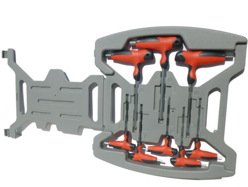 8 pièces tête cylindrique clé set avec poignée 2-k en boxhexagonal suki