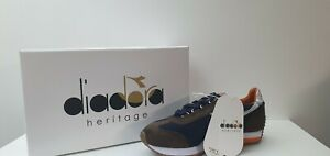 Diadora-Heritage-Sneakers-Uomo-Equipe-Evo-Camo-Blu-Marrone-Bianco-Sconto-50