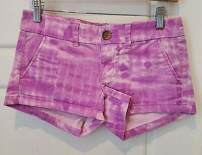 Jean Shorts Size 6 Curvy Low Rise Purple Tye Dye