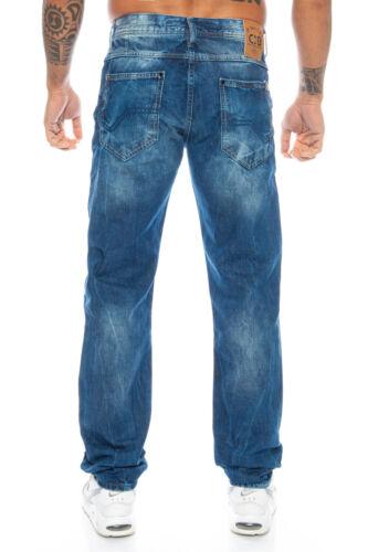 Cipo /& Baxx Cuciture Uomo Pantaloni Jeans 319y BLU w28 29 30 31 32 33 34 36 38 40 42