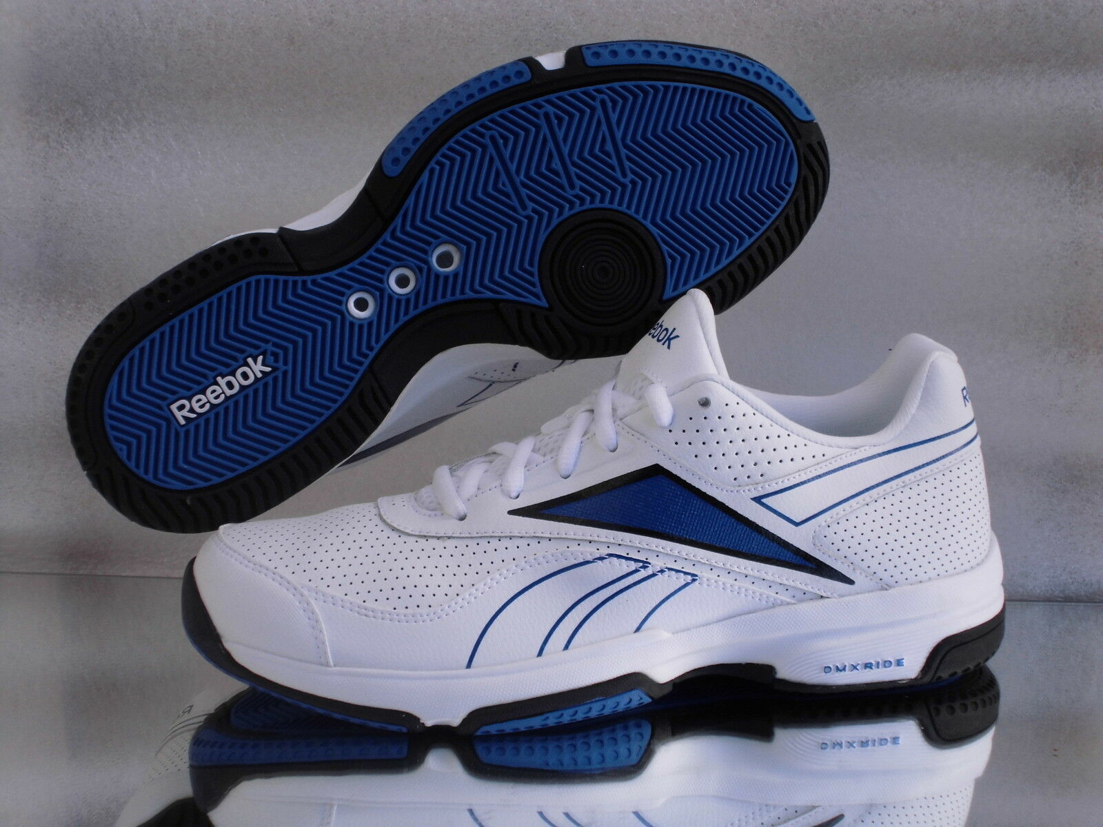 REEBOK HIGH VOLLEY VI Turnschuhe Tennis Sneaker J81591 Weiß/Blau Neu