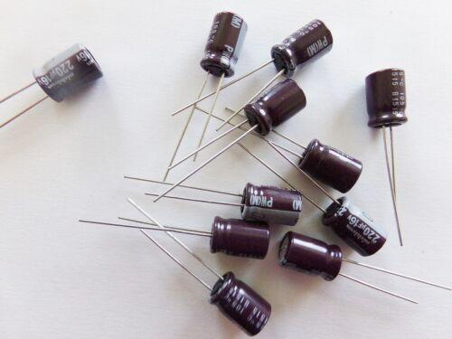 condensateur faible impédance 220uf 16v NICHICON low impédance