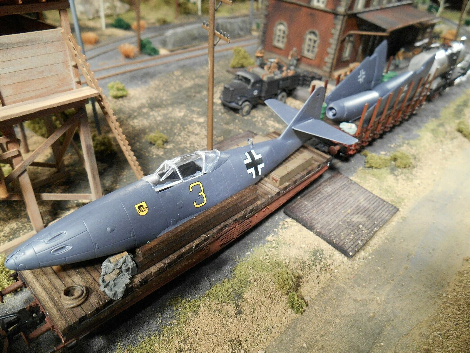 Entrega rápida y envío gratis en todos los pedidos. Ho Roco Minitank alemán Messerschmitt Jet Jet Jet ME262A Pintado a Mano  2579  tienda de venta