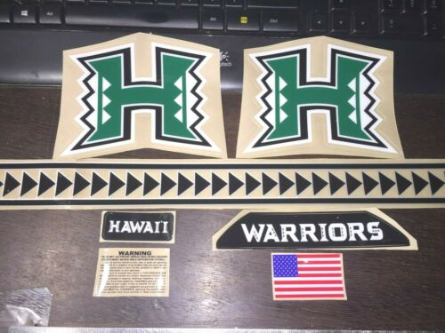 2020 HAWAII WARRIORS BACK FULL SIZE-Football Helmet Decals with SPEED