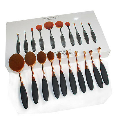 10PCS/set Elite Oval Tooth Design Makeup Brush Set For Applying Cosmetic