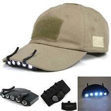 con Clip 5 LED Gorra Luz De Cabeza Linterna Para Exterior Pesca Camping Caza GG