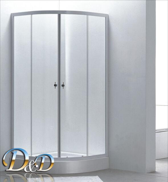 BOX DOCCIA CABINA SEMICIRCOLARE CRISTALLO  OPACO 4MM 80x80 90x90 - 185h