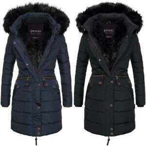 276b132a9cd Spindle Women s Designer Warm Winter Parka Quilted Hooded Long Coat ...