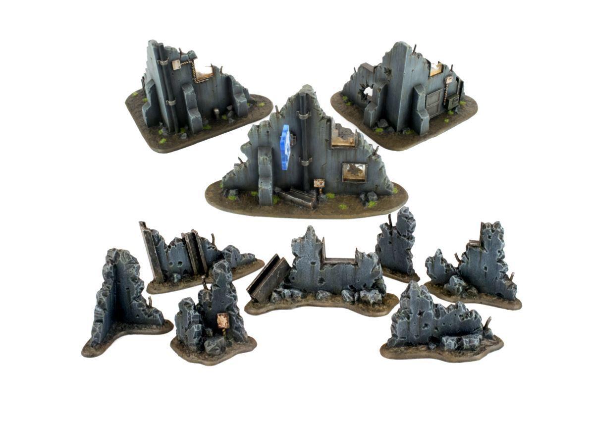 "WWG War-Torn City Kit""Escombros"" y Edificios– Wargaming, Warhammer, 28mm"