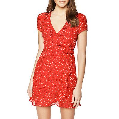 NEW Bardot Backless Spot Dress Red