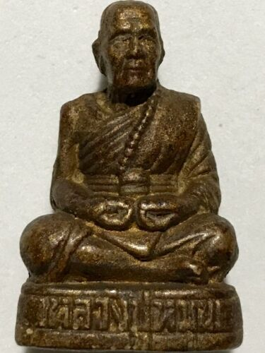 PHRA LP MHOON RARE OLD THAI BUDDHA AMULET PENDANT MAGIC ANCIENT IDOL#25