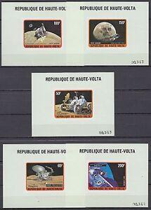 Obervolta-Haute-Volta-1973-mi-427-31-de-Luxe-m-s-espacio-Space-Espace-Apollo