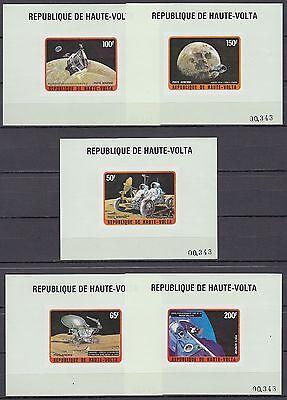 Afrika Burkina Faso Obervolta Haute Volta 1973 ** Mi.427/31 De Luxe M/s Weltraum Space Espace Apollo