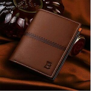 Men-039-s-Leather-ID-Credit-Card-Holder-Clutch-Bifold-Coin-Purse-Wallet-Pockets-Gift