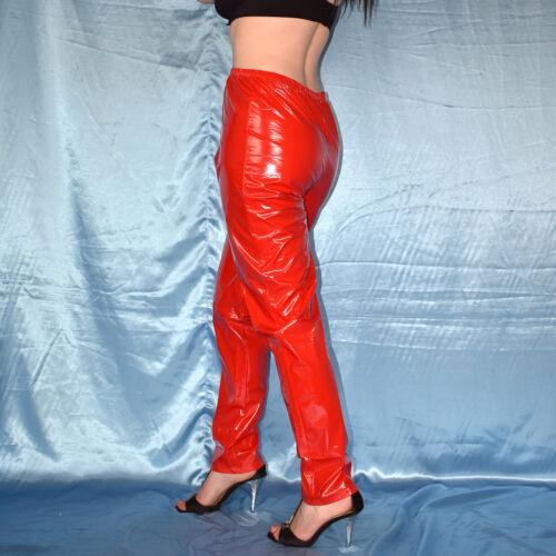 * Folien Hose aus Lack knautschig raschelige VINYL PVC HOSE * Gr L 44