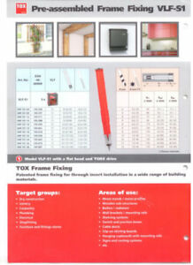 Details about Tox VLF-S1 autoclaved aerated concrete expansion anchors  Aercon Hebel Ytong
