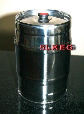 5L Homebrew Growler Keg Stainless Steel Beer Home Brewing Making Bar Tool