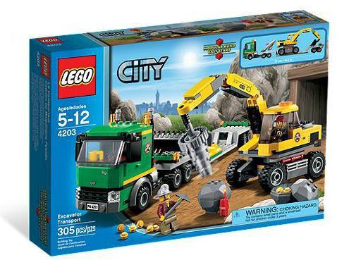 NEW LEGO 4203 City Excavator Transport Factory Sealed Box Set Retired See Pics