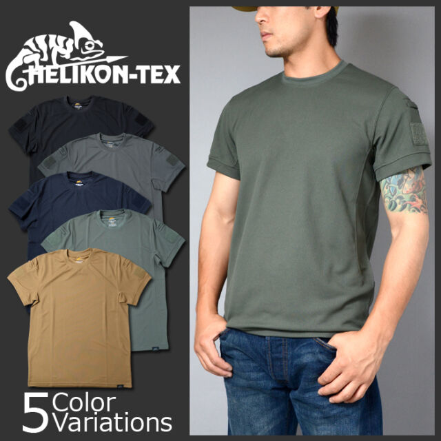 Helikon Homme T-Shirt Tactique Kaki