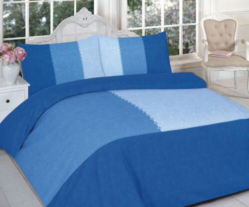 Suede Patch Duvet Quilt Cover Bed Set with Pillow case single double king super