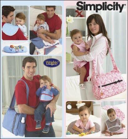 Lätzchen Wickelauflage Schnittmuster Simplicity 7254 Baby Wickeltasche