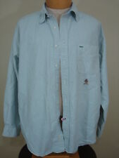 j97 Mens Tall Tommy Hilfiger button up dress shirt multi color striped L large