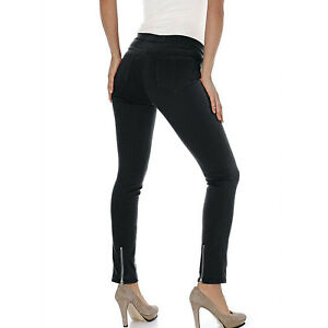 Basic-Hose-SCHWARZ-Stretch-Treggings-Roehre-Gr-40-Black