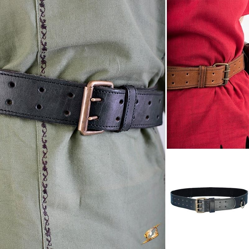 Quality Leather Ring Belt Perfect For Re-enactment Stage Costume LARP. 2 Colours