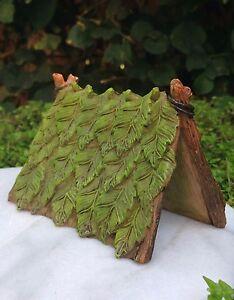 Miniature-Dollhouse-FAIRY-GARDEN-Gnome-Furniture-Resin-Green-Leaf-Tent-NEW