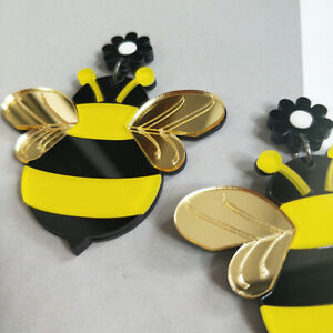 Fashion-Women-Acrylic-Resin-Bee-Earrings-Boho-Dangle-Drop-Stud-Earring