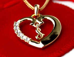 Wonderful Image Is Loading Name Necklace Initial Love Heart Pendant Letter S