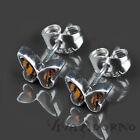 1 Paire Goujon Papillons Rockabilly Boucles D'oreilles En Acier Inoxydable Z364