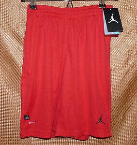 c21573d0c1ef Nike Air Jordan Dri-Fit Basketball Shorts Boys Gym Red w  Jumpman ...