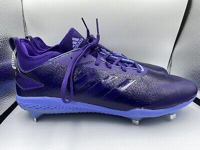 purple adidas baseball cleats