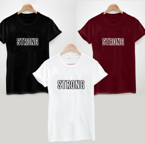 STRONG T-Shirt COOL FUNNY SLOGAN LADIES UNISEX TEE SUMMER VIBE