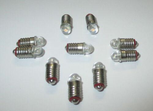 10 x LED E5.5 für Puppenhaus oder Krippenlampen 3,5-4,5Volt   10 Stück  *NEU*