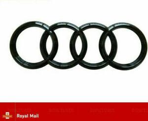 AUDI-Anillos-de-arranque-trasero-negro-brillante-Insignia-Emblema-S-Line-A3-S3-RS3-A4-A5-A6-TT-193mm