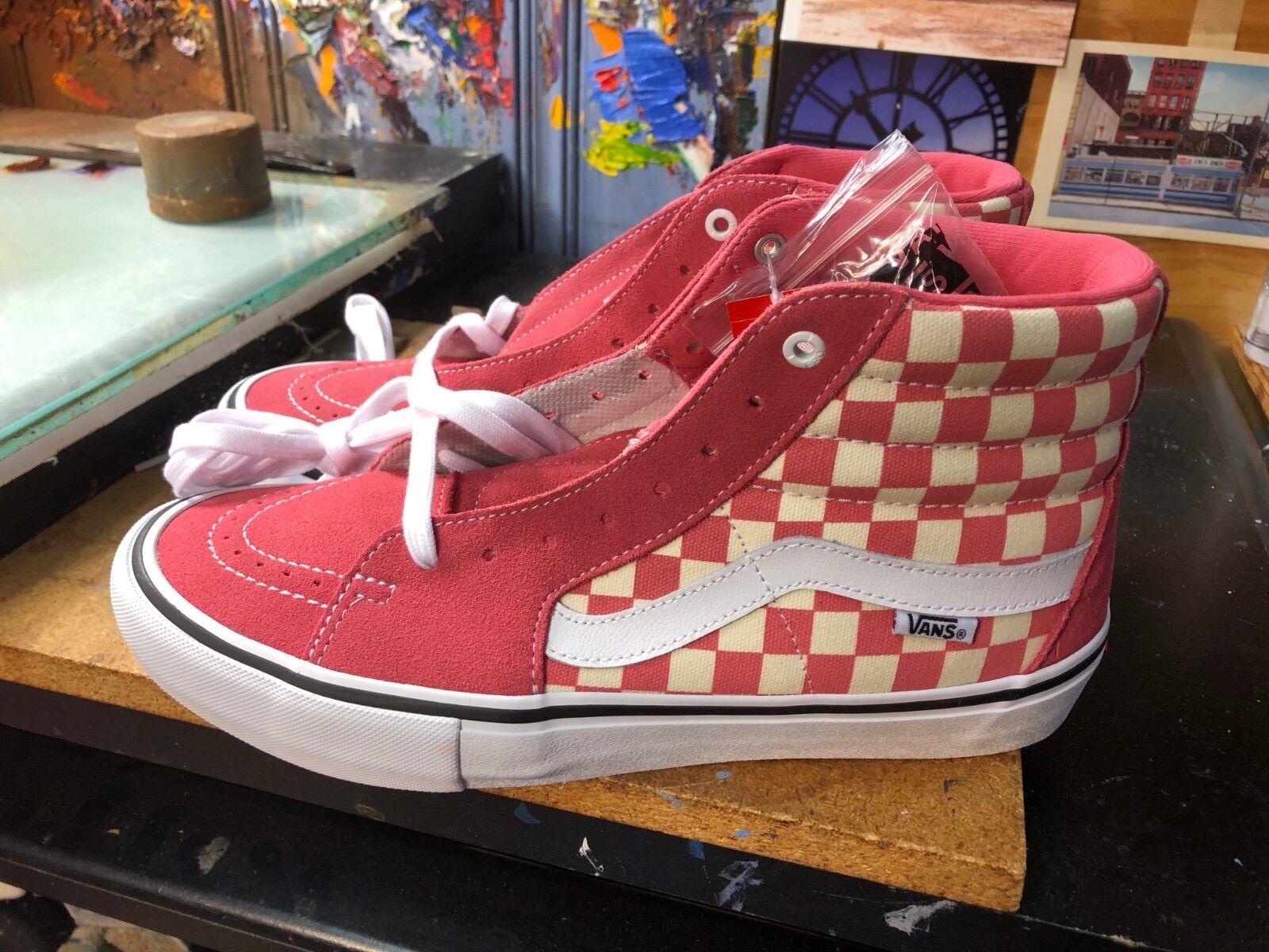 Vans SK8-Hi PRO (Checkerboard) Desert pink Suede US 11 11 11 Men VN000VHGU22 5b691d